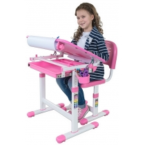 Комплект парта + стілець трансформери FUNDESK Bambino Pink