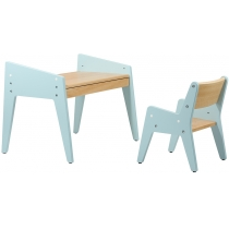 Комплект парта + стул FUNDESK Omino Blue