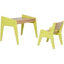 Комплект парта + стілець FUNDESK Omino Green