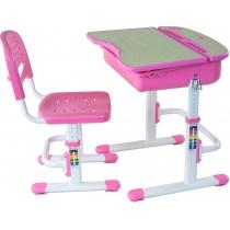Комплект парта + стілець трансформери FUNDESK Capri Pink