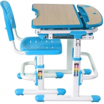 Комплект парта + стілець трансформери FUNDESK Sorriso Blue