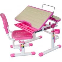 Комплект парта + стул трансформеры FUNDESK Sorriso Pink
