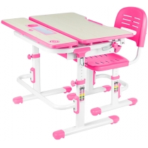 Комплект парта + стілець трансформери FUNDESK Lavoro Pink