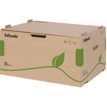 Архивный контейнер Esselte Eco, открываемый спереди, коричневый