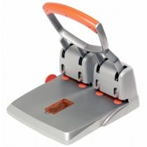 Дырокол RAPID HDC150/4, цвет серебряный/оранжевый, 4 отверстия, 150 листов