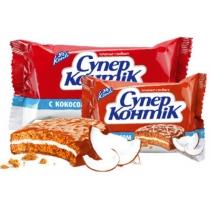 """Печенье """"Супер-Контик"""" с кокосом молочный"""