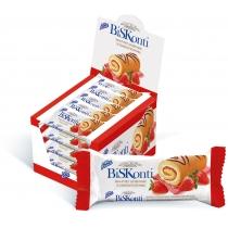 """Бісквит """"BisKonti"""" зі смаком полуниці, 14 шт"""