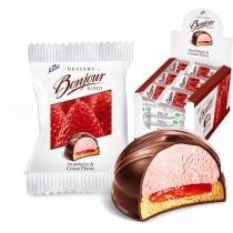 "Десерт ""Bonjour"" вкус клубники со сливками, 24 шт"