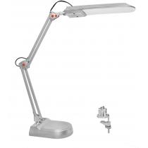 Лампа настольная светодиодная MAGNUM NL011 4100К 7Вт серебро (струбцина+подставка)