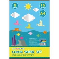 """Набор цветной бумаги """"CFS"""", А4 16л., 8 цв., 45 г/м2, economic"""