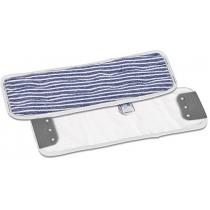 Моп для влажной уборки 40 х 13 см микрофибра бело-красный