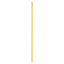 Рукоятка пластиковая 145 см с резьбой желтая