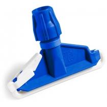 Зажим для мопов пластиковый голубой