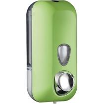 Дозатор рідкого мила 0,55 л пластик прозорий, зелений