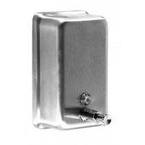 Дозатор рідкого мила вертикальний 1,1 л нержавіюча сталь сатиновий