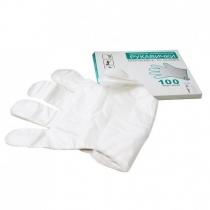 Перчатки одноразовые полиэтилен размер M 100 шт в коробке