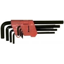 Набір ключів імбусових HEX, 1,5-10 мм, CrV, 9 шт., оксидовані, подовжені, MTX