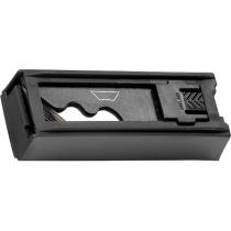 Ніж, 18 мм, висувне трапецієподібне лезо, металевий корпус + 8 лез MTX MASTER