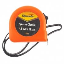 Рулетка SPARTA Classic, 3 м х 16 мм, пластиковый корпус
