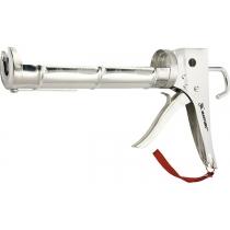 """Пістолет для герметика, 310 мл, """"напіввідкритий"""", хромований, зубчастий шт.ок 7 мм MTX"""