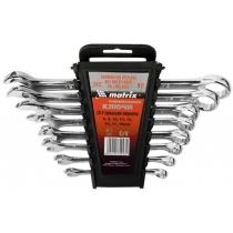 Набір ключів комбінованих, 8 - 17 мм, 6 шт., CrV, полірований хром MTX