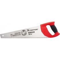 Ножовка по дереву, 500 мм, 7-8 TPI, зуб - 3D, закаленный зуб, двухкомпонентная рукоятка MTX