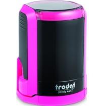 Оснастка автомат., TRODAT 4642, пласт., для печатки d 42 мм, рожева, с футляром