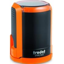 Оснастка автомат., TRODAT 4642, пласт., для печатки d 42 мм, помаранч, с футляром