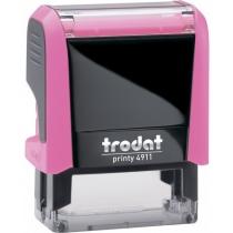 Оснастка автомат., TRODAT 4911 Р4, пласт., для штампа 38х14 мм, рожева