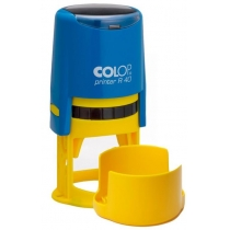 Оснастка автомат. COLOP, Printer R40 син.-ж. d 40, пластик