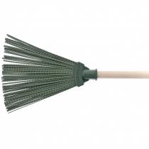 Метла полипропиленовая, 270 х 260 мм, веерная, с ручкой, СТ