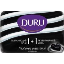 Мыло Duru Soft Sensations 80 г активированный уголь