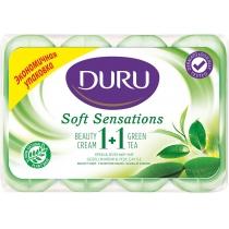 Мыло Duru 1 + 1 Soft Sensations 4 х 90 г зеленый чай