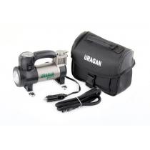 Компрессор автомобильный URAGAN 90190 с LED сигнальным фонарем, 35 ??л / х