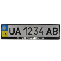 Рамка номер. знака пластик с объемными буквами Volkswagen (2шт)
