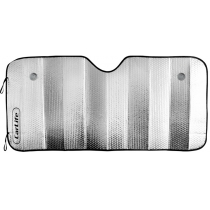 Шторка солнцезащитная CarLife, лобовая 145х70 см., Серебряная