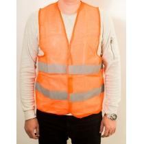 Жилет безопасности Poputchik оранжевый сетка