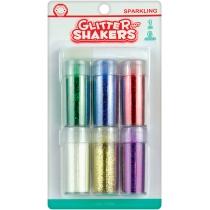 "Набор блесток для декорирования ""Sparkling Glitter Shaker"", 6 цв. по 9г с клеем 6 мл"