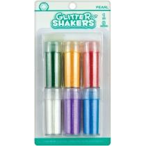 """Набор блесток для декорирования """"Pearl Glitter Shaker"""", 6 цв. по 9г с клеем 6 мл"""