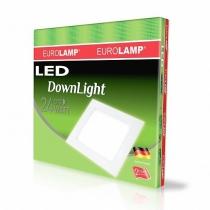 Світильник світлодіодний EUROLAMP LED світильник квадратний DownLight 24W 4000K