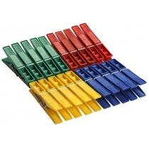 Прищіпки 20 шт 72 мм колір асорті
