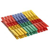 Прищіпки на картонці 24 шт 72 мм колір асорті