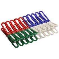 Прищіпки 20 шт комплект Пані будинку колір асорті