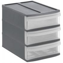 Органайзер на 3 ящики S Systemix колір чорний