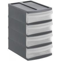 Органайзер на 4 ящики XS Systemix колір чорний