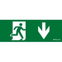 Информационная наклейка на светильник DELUX  119х323мм Exit_Down (REL803)