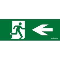 Информационная наклейка на светильник DELUX  119х323мм Exit_Left (REL803)