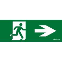 Информационная наклейка на светильник DELUX  119х323мм Exit_Right (REL803)