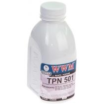 Тонер WWM TPN501 для Panasonic KX-FL 501/502/503/523/543 бутль 50г Black (TH68)