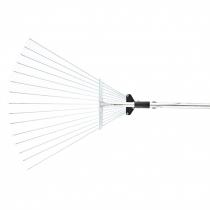 Грабли веерные 15 зубьевые, алюминиевый черенок 1600 мм, раздвижные, PALISAD